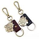 povoljno Svadbeni privjesci za ključeve-Klasični Tema / Sova / Kreativan Privjesak favorizira Krom / Teleća koža Privjesci za ključeve - 1 pcs Sva doba