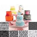 baratos Artigos de Forno-6 pcs flores de plástico transparente textura molde fondant selo molde diy molde do bolo