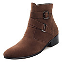 cheap Men's Boots-Men's Fashion Boots PU(Polyurethane) Winter Casual Boots Non-slipping Mid-Calf Boots Black / Gray / Brown
