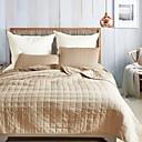 billige Tæpper ogplaider-Komfortabel - 2stk Puder (kun 1stk pude til Twin eller Single) / 1stk Sengetæppe Alle årstider Polyester Ensfarvet