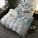 preiswerte Geometrische Duvet Covers-Bettbezug-Sets Geometrisch Polyester Reaktivdruck 4 StückBedding Sets / 4-teilig (1 Bettbezug, 1 Bettlaken, 2 Kissenbezüge)