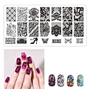 cheap Nail Stamping-1 pcs Stamping Plate Template Romantic Series Universal / Recyclable nail art Manicure Pedicure European / French Daily / Masquerade