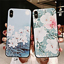 economico Custodie per iPhone-Custodia Per Apple iPhone XR / iPhone XS Max Effetto ghiaccio / Decorazioni in rilievo / Fantasia / disegno Per retro Fiore decorativo Morbido TPU per iPhone XS / iPhone XR / iPhone XS Max