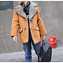 billige Jakker og frakker til gutter-Barn Gutt Grunnleggende Daglig Ensfarget Langermet Normal Bomull / Polyester Jakke og frakk Oransje 140