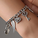 cheap Bracelets-Women's Retro Hollow Charm Bracelet - Elephant, Keys, Wings Trendy, Korean Bracelet Silver For Gift Daily Bar / Heart