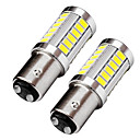 preiswerte Car Exterior Lights-2pcs Top Objektiv Design bay15d 1157 LED Bremslicht Blinker 9W 720lm LED Bremslicht weiß