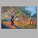 זול ציורי נוף-ציור שמן צבוע-Hang מצויר ביד - מופשט L ו-scape עכשווי מודרני כלול מסגרת פנימית / בד מגולגל / בד מתוח