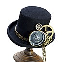 povoljno Zentai odijela-Cosplay Liječnik plague Steampunk Kostim Sve Šeširi šešir Crn / Braon Vintage Cosplay