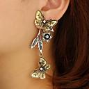 preiswerte Modische Halsketten-Damen Skulptur Tropfen-Ohrringe - Schmetterling, Flower Shape Retro, Ethnisch, Elegant Gold Für Party / Abend Zeremonie