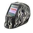 povoljno Sigurnost-widescreen bijela vatra uzorak solarne automatsko fotoelektrično zavarivanje maska