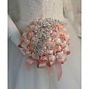 baratos Bouquets de Noiva-Bouquets de Noiva Buquês Casamento / Festa de Casamento Silk como cetim / Miçangas 11-20 cm