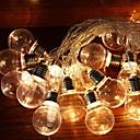 tanie Taśmy świetlne LED-2,5 m Łańcuchy świetlne 10 Diody LED Ciepła biel Dekoracyjna Zasilanie solarne 1 zestaw
