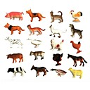 cheap Animal Action Figures-Animals Action Figure Pig Horse Cow Animals Rubber Children's All Toy Gift 20 pcs