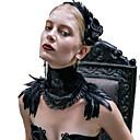 economico Costumi, accessori e gioielli-Cigno nero Tutti Vintage Gotico Steampunk Gioielli Accessori Lolita Collane Collana Sciarpa Nero Di tendenza Piume Vintage Neckwear Accessori Lolita