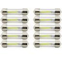 billige Interiørlamper til bil-10pcs 41mm Bil Elpærer 1 W COB 85 lm 1 LED interiør Lights / utvendig Lights Til Universell Universell / KX5 Universell