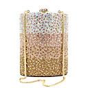 ieftine Peruci Dantelă Sintetice-Pentru femei Genți PU / Aliaj Geantă Seară Detalii Cristal Culoare solidă Auriu
