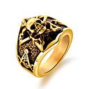 رخيصةأون خواتم الرجال-رجالي أشكال النحت خاتم - الصلب التيتانيوم جمجمة بانغك, أوروبي, شائع ذهبي / فضي من أجل شارع الحانة Bar