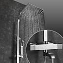 halpa Suihkuhanat-Suihkuhana / Kylpyhuone Sink hana - Nykyaikainen Kromi Seinäasennus Keraaminen venttiili Bath Shower Mixer Taps / Messinki / Kaksi kahvaa kaksi reikää