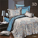 cheap High Quality Duvet Covers-Duvet Cover Sets 3D Poly / Cotton Reactive Print 4 PieceBedding Sets / 250 / 4pcs (1 Duvet Cover, 1 Flat Sheet, 2 Shams)