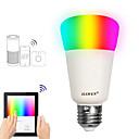 cheap LED Smart Bulbs-JIAWEN 1pc 9 W 750 lm E26 / E27 LED Smart Bulbs A19 31 LED Beads SMD 3528 Smart / APP Control / Timing RGBW 100-240 V