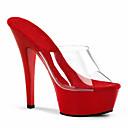 povoljno Ženske sandale-Žene Cipele PVC Proljeće Ljeto Klub obuća Svjetleće tenisice Cipele na petu Stiletto potpetica za Vjenčanje Zabava i večer Obala Crn