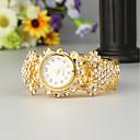 preiswerte Modische Uhren-FEIS Damen Armband-Uhr Quartz Gold Chronograph Analog-Digital damas Modisch - Gold