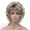 billiga Syntetiska peruker utan hätta-Syntetiska peruker Dam Lockigt Guld Kort Bob Syntetiskt hår 6 tum syntetisk Guld / Svart Peruk Korta Utan lock Ljusguldig Guldbrun Svart