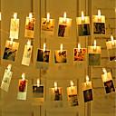 halpa LED-hehkulamput-zdm 2m 20 kpl led-valokuvamallien valoja 20 valokuvapakettia powered tai usb käyttöliittymä keiju hämmästyttävä lightshanging valokuvakortit ja kuvitus lämmin valkoinen