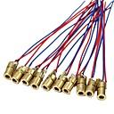 olcso Modulok-10 x mini lézer pont dióda modul fej wl piros 650nm 6mm 5v 5mw csomag 10 db