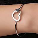 preiswerte Modische Halsketten-Damen Armreife - Herz Einfach, Koreanisch Armbänder Silber Für Geschenk Alltag Strasse