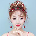 ieftine Accesorii Lolita-Decorațiuni Seturi de bijuterii de mireasă klasické Tradițional Pentru femei Auriu Mozaic Vintage Veșminte de cap Cercel Ștras Aliaj Costume de Halloween