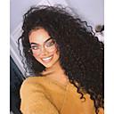 voordelige Synthetische kanten pruiken-Pruik Lace Front Synthetisch Haar Gekruld / Losse krul Stijl Gelaagd kapsel Kanten Voorkant Pruik Zwart Zwart Donkerbruin Synthetisch haar 24 inch(es) Dames met babyhaar / Verstelbaar / Natuurlijke