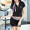 Χαμηλού Κόστους στολές Αξεσουάρ-Γυναικεία Ολόσωμη Φόρμα & Cheongsam Πυτζάμες - Σουρωτά Patchwork