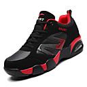 זול נעלי ספורט לגברים-בגדי ריקוד גברים נעלי נוחות PU חורף ספורטיבי נעלי אתלטיקה ריצה ללא החלקה קולור בלוק שחור לבן / שחור אדום / שחור / כחול
