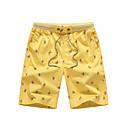 זול מכנסיים ושורטים לגברים-בגדי ריקוד גברים סגנון רחוב יומי סוף שבוע שורטים מכנסיים - דפוס סתיו צהוב כחול בהיר חאקי XXL XXXL XXXXL