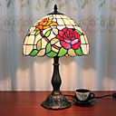 povoljno Stolne svjetiljke-12-inčni stolni svjetlo ruža umjetnički tiffany ambijentalne svjetiljke dekorativne lijepe stolna svjetiljka za unutarnje spavaća smola 110-120v 220-240v 40w * 1 žarulja nije uključen