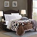 levne Tenké deky a přehozy-Přikrývky, Kostkovaný Polyester / polyamid Zahustit přikrývky