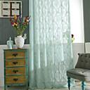 preiswerte Vorhänge & Gardinen-Durchsichtig Gardinen Shades zwei Panele Maßgeschneiderte Größe / Jacquard / Schlafzimmer