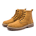 cheap Men's Boots-Men's Combat Boots Faux Leather Spring &  Fall British Boots Booties / Ankle Boots Black / Yellow