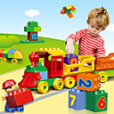 levne Vzdělávací hračky-Stavební bloky Stavební sada hračky Vzdělávací hračka 100 pcs Vlečka kreativita kompatibilní Legoing kreativita Zbavuje ADD, ADHD, úzkost, autismus Interakce rodič-dítě Vše Chlapecké Dívčí Hračky