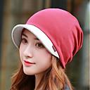 cheap Wallets-Women's Basic Polyester Beanie / Slouchy Beret Hat Floppy Hat-Color Block Fall Winter Gray Wine Khaki