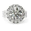 billige Motering-Dame Ring / Micro Pave Ring 1pc Hvit Legering Sirkelformet Europeisk / trendy / Romantikk Bryllup / Stevnemøte Kostyme smykker