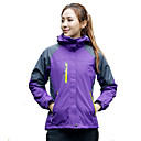 cheap Softshell, Fleece & Hiking Jackets-Women's Hiking 3-in-1 Jackets Ski Jacket Outdoor Waterproof Thermal / Warm Windproof Breathable Spring Fall Winter Softshell Jacket Skiing Camping / Hiking Leisure Sports Purple Yellow Fuchsia XL XXL