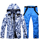 cheap Snowboard, Ski Helmets-ARCTIC QUEEN Men's Ski Jacket with Pants Windproof Waterproof Warm Skiing Snowboarding Winter Sports POLY Eco-friendly Polyester Tracksuit Bib Pants Top Ski Wear