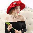 hesapli Lolita Perukları-Elizabeth Muhteşem Bayan Maisel Kentucky Derby Şapkası şapka Bayan Retro / Vintage Kadın's Siyah / Kırmızı Fiyonk Düğüm Kapak Pamuk / Polyester Suni Değerli Taş Kostümler
