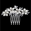 זול תכשיטים לשיער-בגדי ריקוד נשים אופנתי דמוי פנינה אבן נוצצת סגסוגת מסרקי שיער חתונה Party - פרחוני / Leaf Shape