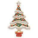 povoljno Religijski nakit-Žene Kubični Zirconia Broševi Klasičan Božićno drvce dame Moda Broš Jewelry Zeleni / Crveni Za Božić Dnevno