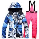 cheap Snowboard, Ski Helmets-Women's Ski Jacket with Pants Windproof Warm Breathability Winter Sports Cotton POLY Denim Clothing Suit Ski Wear