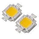billige Lampesokler og kontakter-youoklight® diy 10w 820-900lm 900ma varmt hvitt lys / kjølig hvitt lys integrert ledermodul (dc 9-12v)