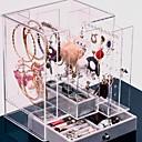 levne Ukládání šperků-Úložný prostor Organizace Sbírka šperků Plastický Čtvercový Trojvrstvá vrstva